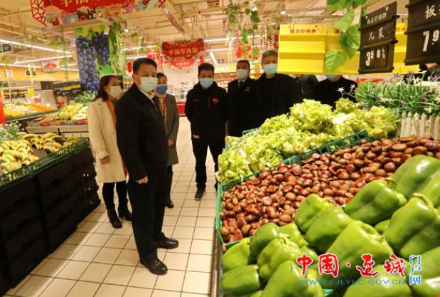 连城县委书记钟勇强检查疫情防控期间市场供应保障工作